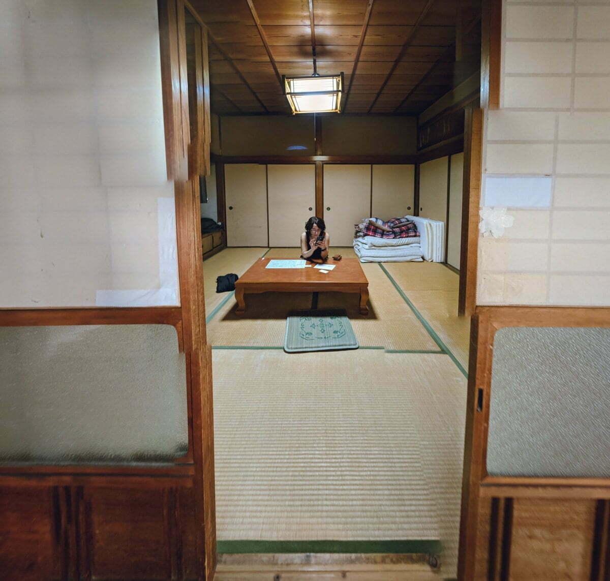 Habitación del Ichie Café en Kii-Tanabe